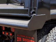 Heavy duty push bumper apron.