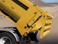Increase the hauling and delivering abilities of your Ox Bodies dump body with the new High 'N Slide™ tailgate that offers traditional dump-through, sliding and high-lift functionality.